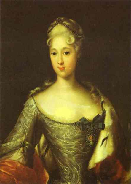 Portrait Of Maria Menshikova 1720s | Tannauer | Oil Painting