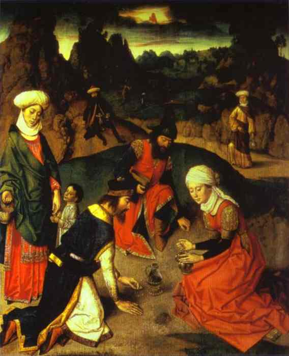 Gathering Manna (From The Eucharist Altar) 1464-1468 | Dieric Bouts The Elder | Oil Painting