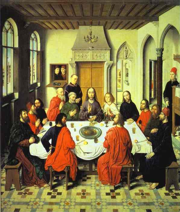 Last Supper (Central Section Of An Alterpiece) 1464-1467 | Dieric Bouts The Elder | Oil Painting