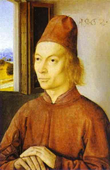 Portrait Of A Man 1462 | Dieric Bouts The Elder | Oil Painting