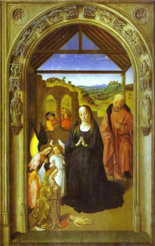 The Adoration Of The Angels 1445 | Dieric Bouts The Elder | Oil Painting
