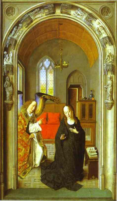 The Annunciation 1445 | Dieric Bouts The Elder | Oil Painting