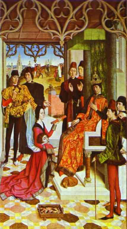 The Empress Ordeal By Fire In Front Of Emperor Otto Iii 1470-1475 | Dieric Bouts The Elder | Oil Painting