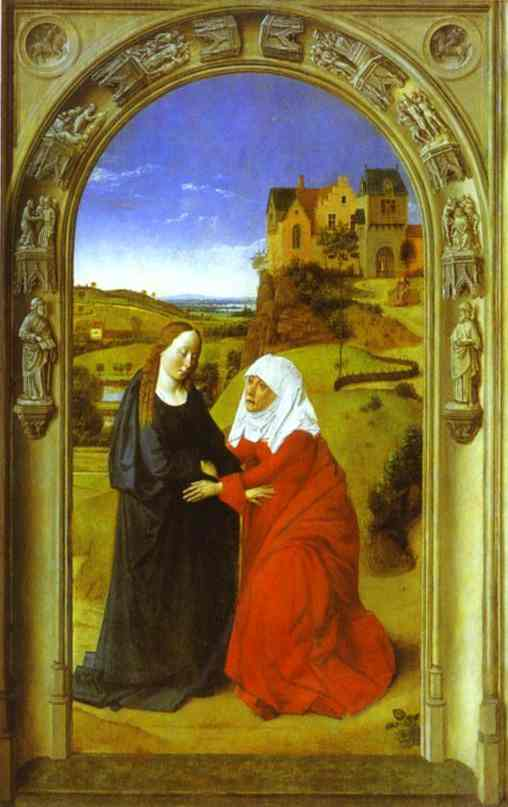 The Visitation 1445 | Dieric Bouts The Elder | Oil Painting