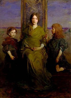Virgin Enthroned 1891 | Abbott Handerson Thayer | Oil Painting