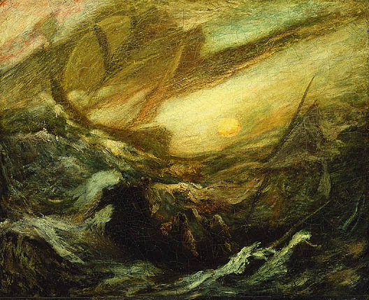 Flying Dutchman Completed By 1887 | Albert Pinkham Ryder | Oil Painting