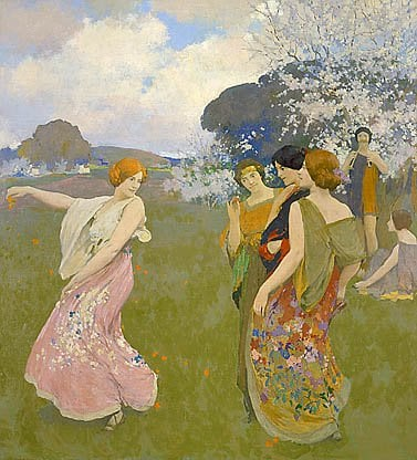 Spring Dance About 1917 | Arthur F Mathews | Oil Painting