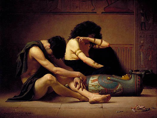 Lamentations Over The Death Of The Firstborn Of Egypt 1877 | Charles Sprague Pearce | Oil Painting