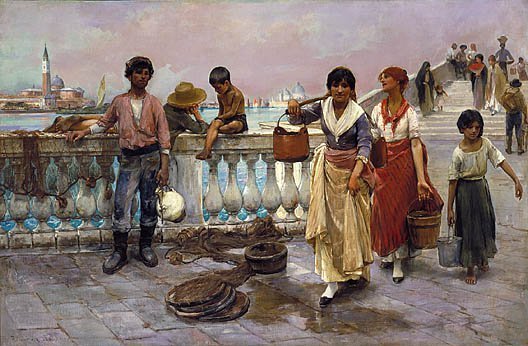 Water Carriers Venice 1884 | Frank Duveneck | Oil Painting