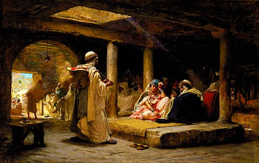 Cafe At Biskra Algeria 1884 | Frederick Arthur Bridgman | Oil Painting
