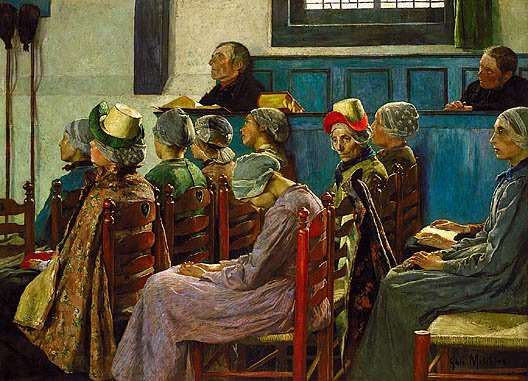 The Sermon 1886 | Gari Melchers | Oil Painting
