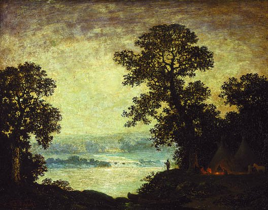 Moonlightn Indian Encampment 1885 1889 | Ralph Albert Blakelock | Oil Painting