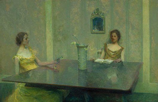 A Reading 1897 | Thomas Wilmer Dewing | Oil Painting