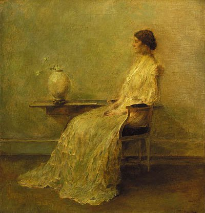 Lady In White No 2 About 1910 | Thomas Wilmer Dewing | Oil Painting