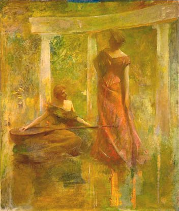 Music About 1895 | Thomas Wilmer Dewing | Oil Painting