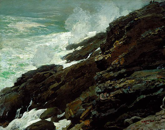 High Cliff Coast Of Maine 1894 | Winslow Homer | Oil Painting
