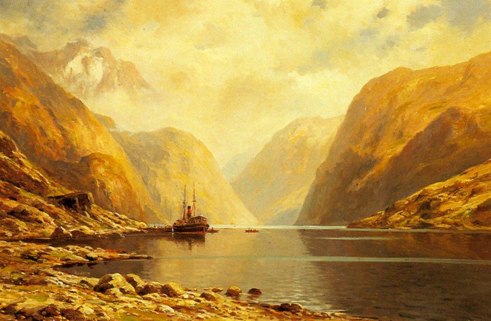 Naero Fjord | Themistocles Von Eckenbrecher | Oil Painting