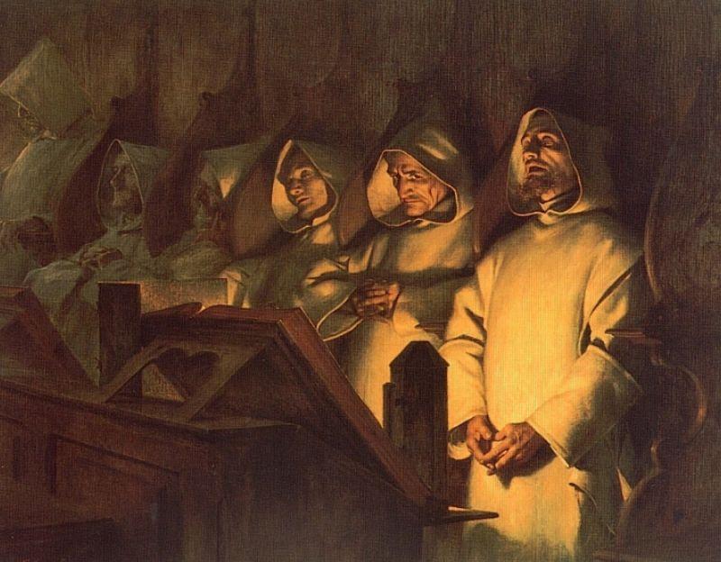 Les Matines a la Grande Chartreuse   Theobald Chartran   Oil Painting