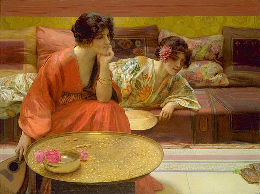 Idle Hours 1895 | H Siddons Mowbray | Oil Painting