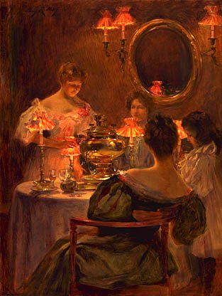 Russian Tea About 1896 | Irving R Wiles | Oil Painting
