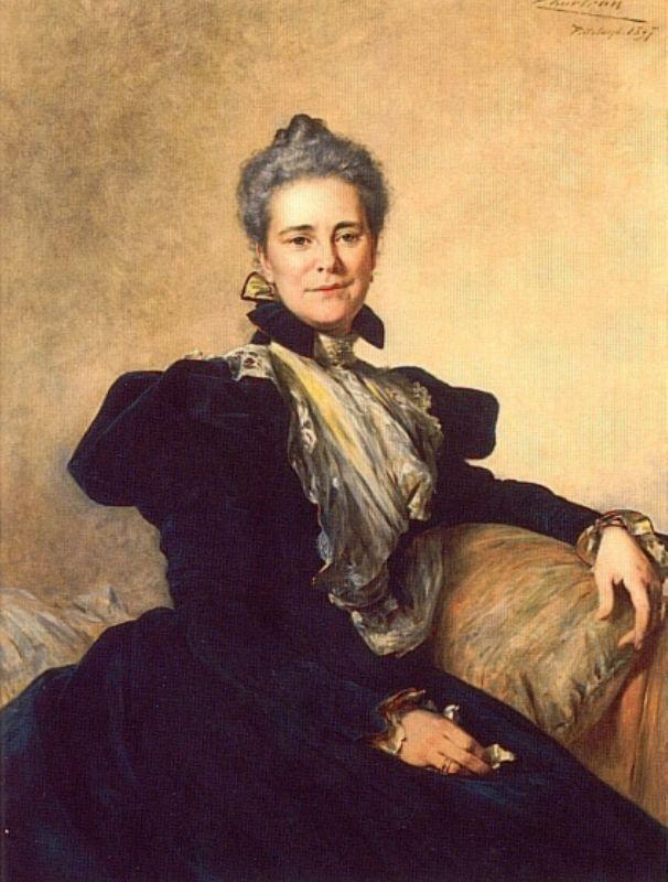 Portrait of Mrs Charles Lockhart   Theobald Chartran   Oil Painting