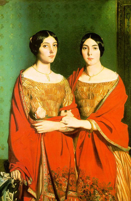 The Two Sisters   Theodore Chasseriau   Oil Painting
