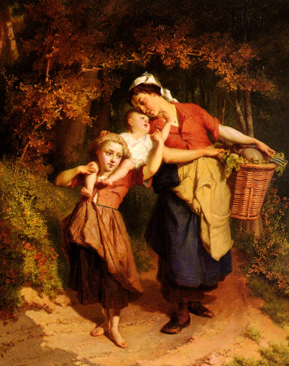 Returning From The Market | Theodore Gerard | Oil Painting