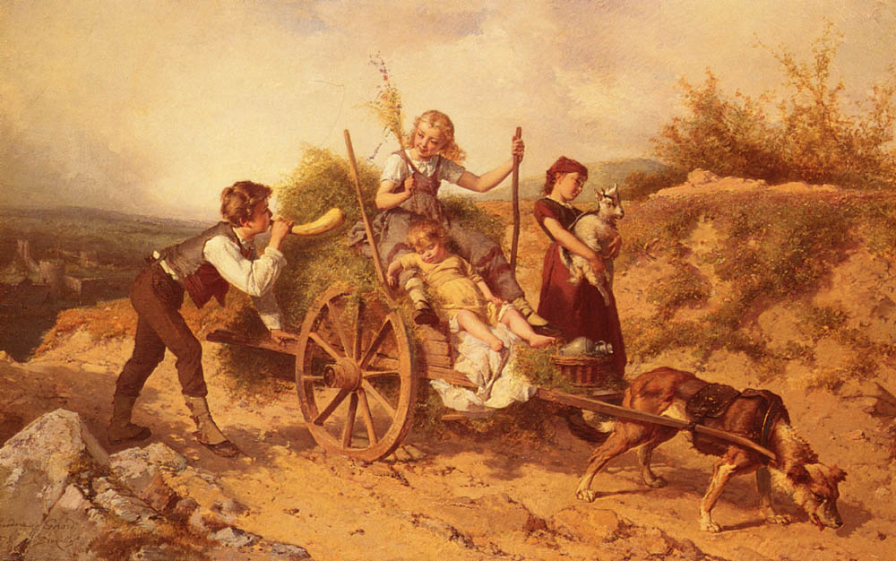 The Country Children | Theodore Gerard | Oil Painting