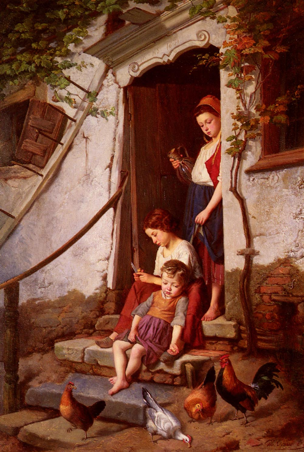 The Farmers Children | Theodore Gerard | Oil Painting