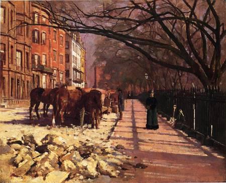 Beacon Street Boston 1884 | Theodore Robinson | Oil Painting