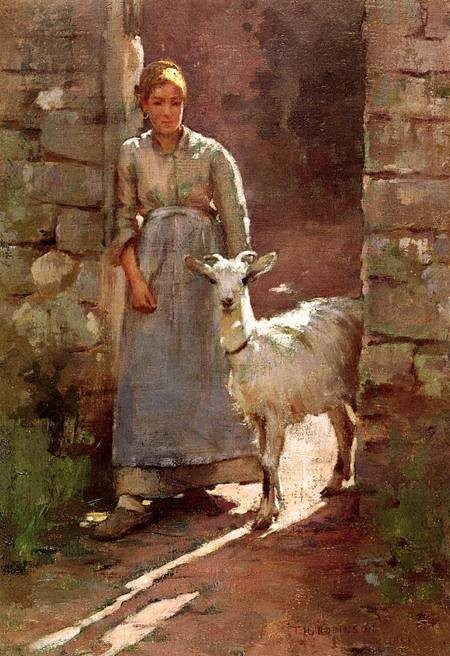 Girl with Goat 1886 | Theodore Robinson | Oil Painting
