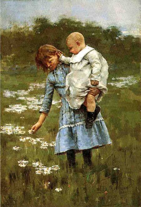 In a Daisy Field 1884 | Theodore Robinson | Oil Painting
