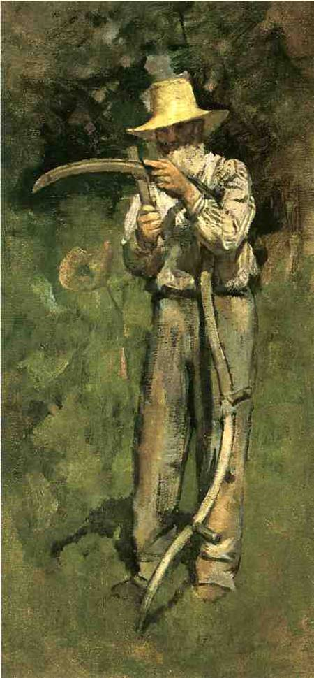 Man with Sythe 1882 | Theodore Robinson | Oil Painting