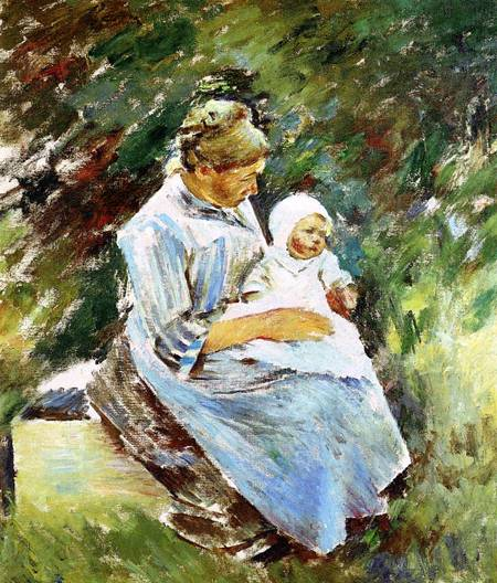 Mother and Child 1892 | Theodore Robinson | Oil Painting