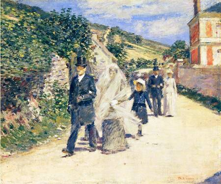 The Wedding March 1892 | Theodore Robinson | Oil Painting