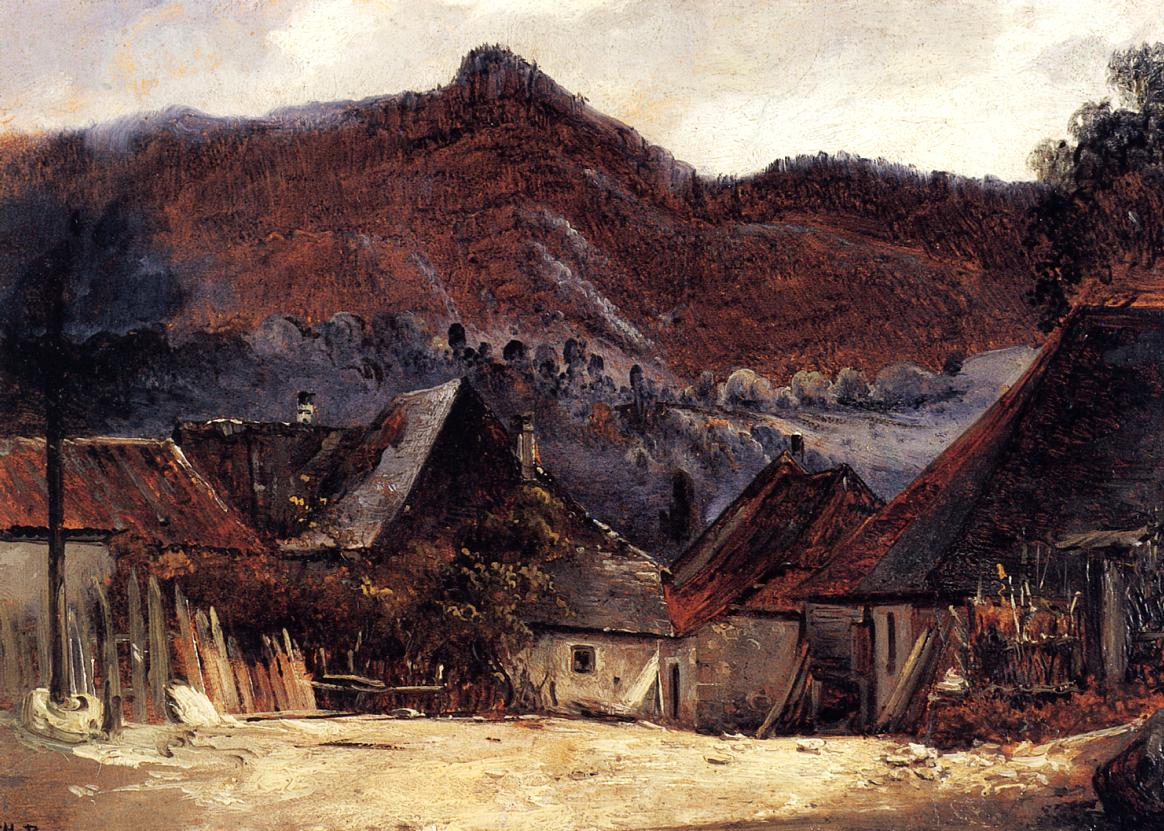 Cottages in the Jura 1834 | Theodore Rousseau | Oil Painting