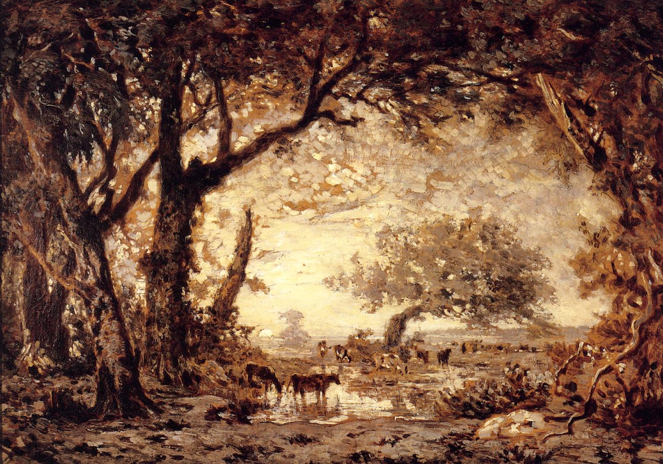 Edge of the Forest of Fontainebleau 1848-1850 | Theodore Rousseau | Oil Painting