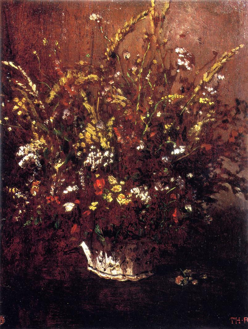 Flower Study 1853-1854 | Theodore Rousseau | Oil Painting