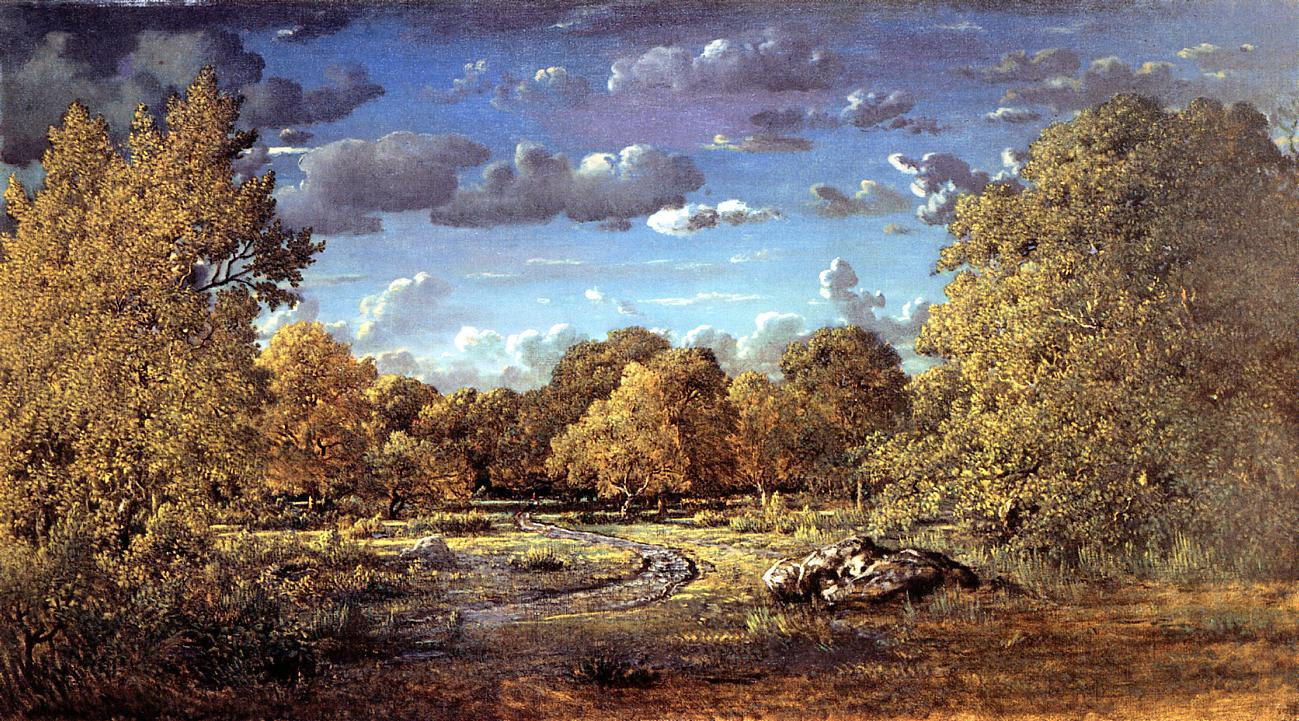 Glade of the Reine Blanche in the Fontainebleau Forest 1860 | Theodore Rousseau | Oil Painting