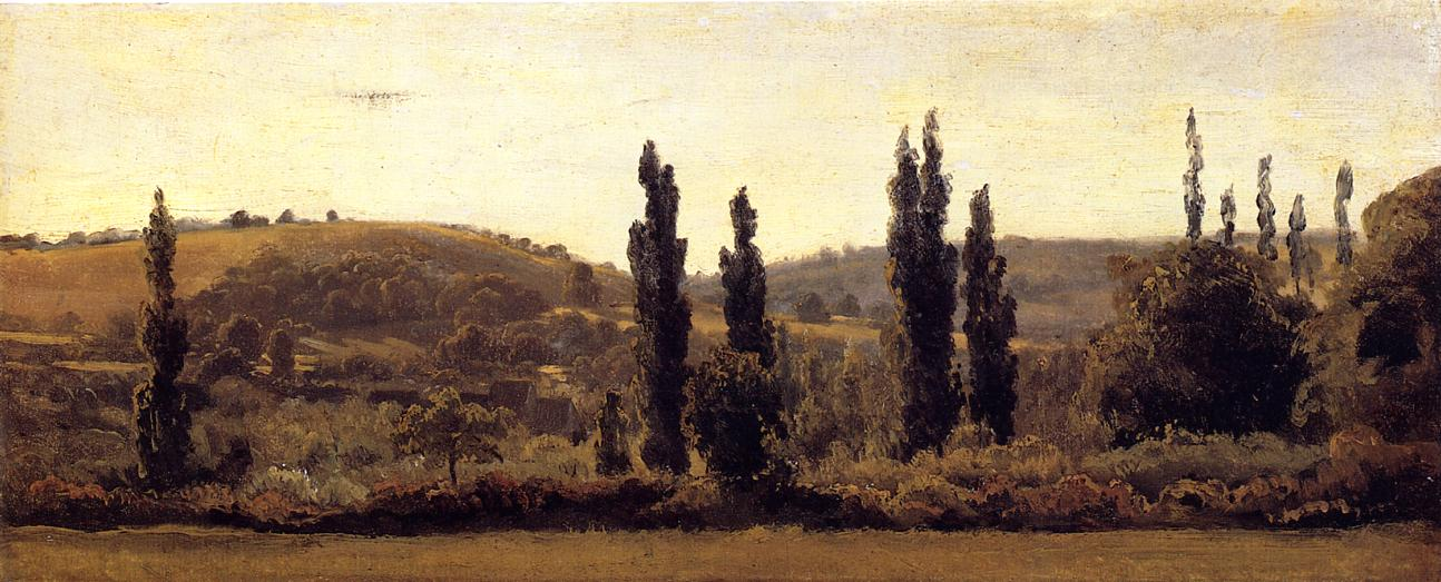 Landscape with Poplars 1831-1833 | Theodore Rousseau | Oil Painting