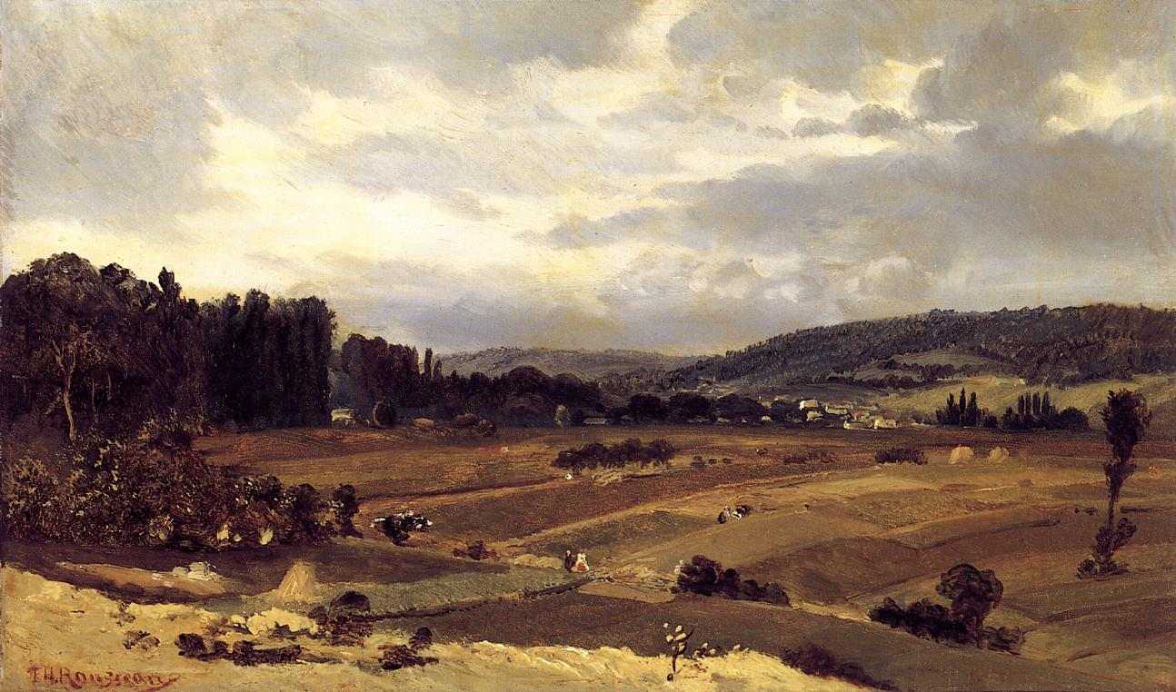 Lanscape with Farmland 1829-1834 | Theodore Rousseau | Oil Painting