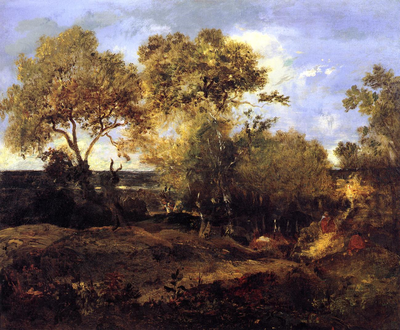 Late Fall 1847   Theodore Rousseau   Oil Painting