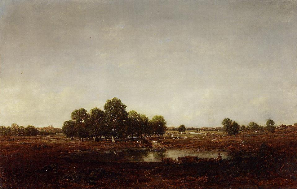 Marsh Land | Theodore Rousseau | Oil Painting
