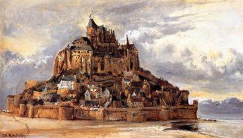 Mont-Saint-Michel 1832 | Theodore Rousseau | Oil Painting
