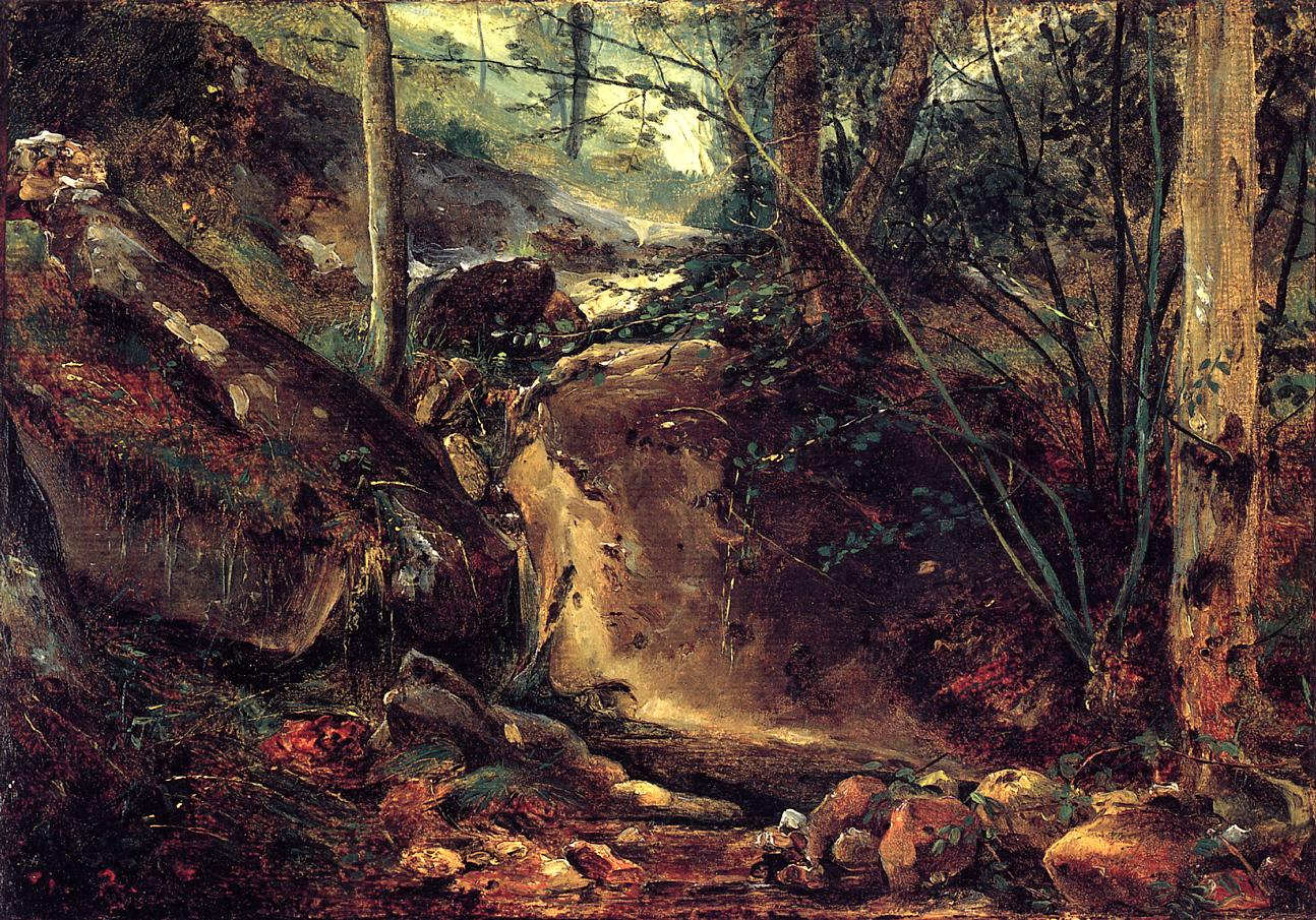 Mountain Stream in the Auverne 1830 | Theodore Rousseau | Oil Painting