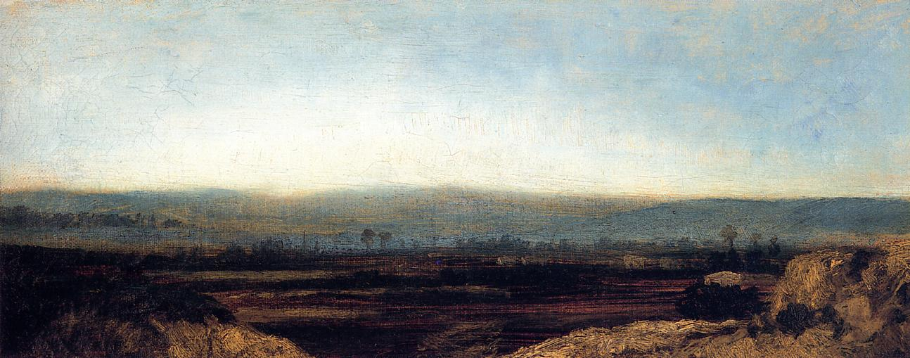 Panoramic Landscape on the Outskirts of Paris 1829-1831 | Theodore Rousseau | Oil Painting