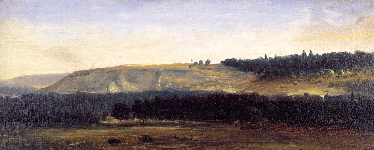 Panoramic Landscape 1829-1832   Theodore Rousseau   Oil Painting