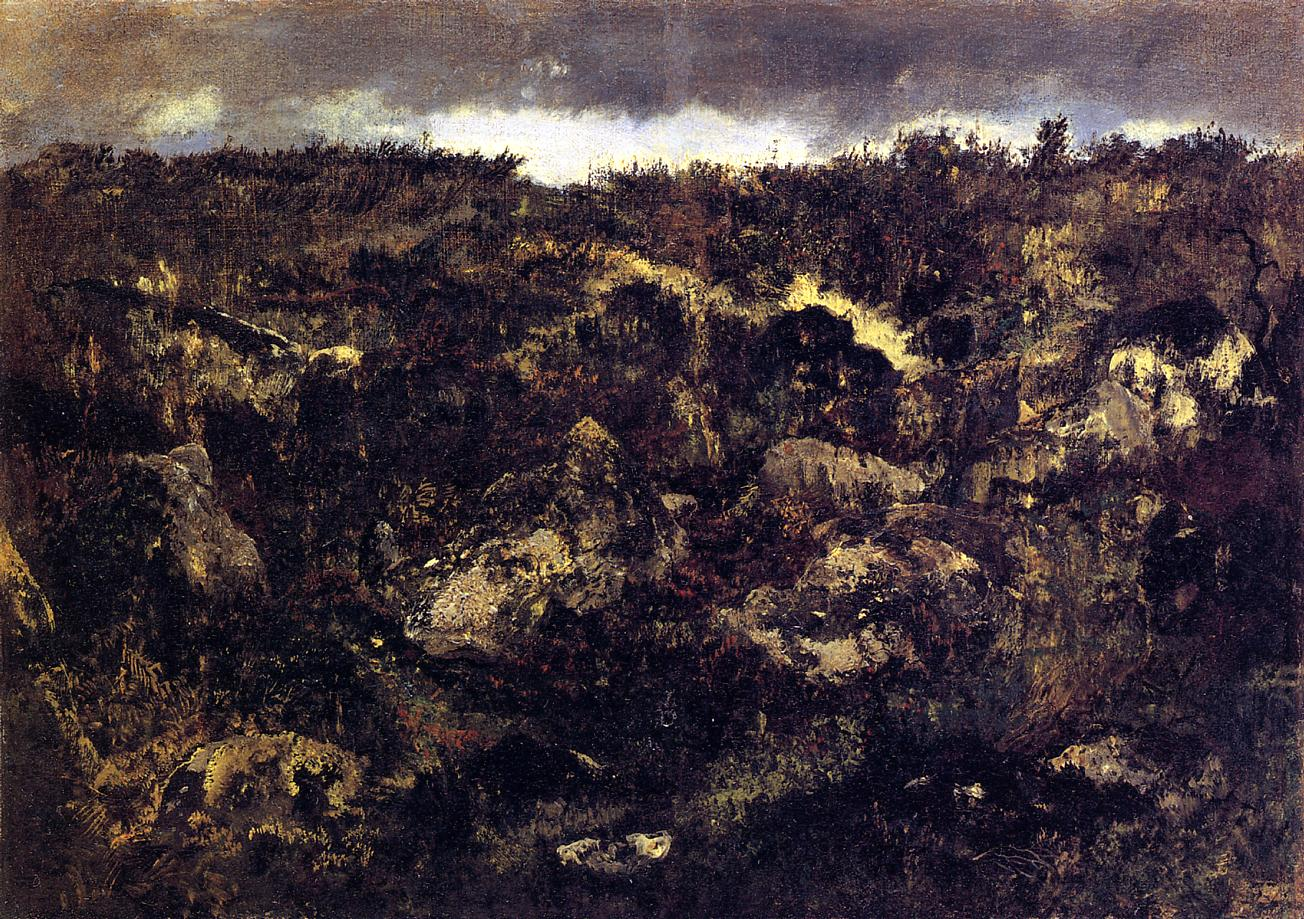 Rocky Landscape 1840-1845 | Theodore Rousseau | Oil Painting