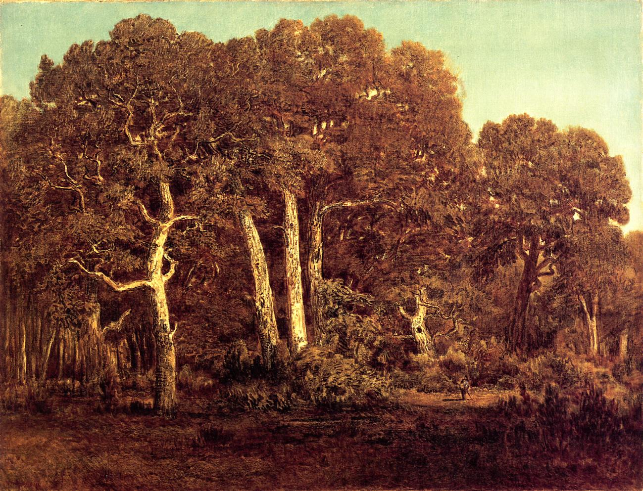 The Great Oaks of the Vieux Bas-Breau 1864 | Theodore Rousseau | Oil Painting
