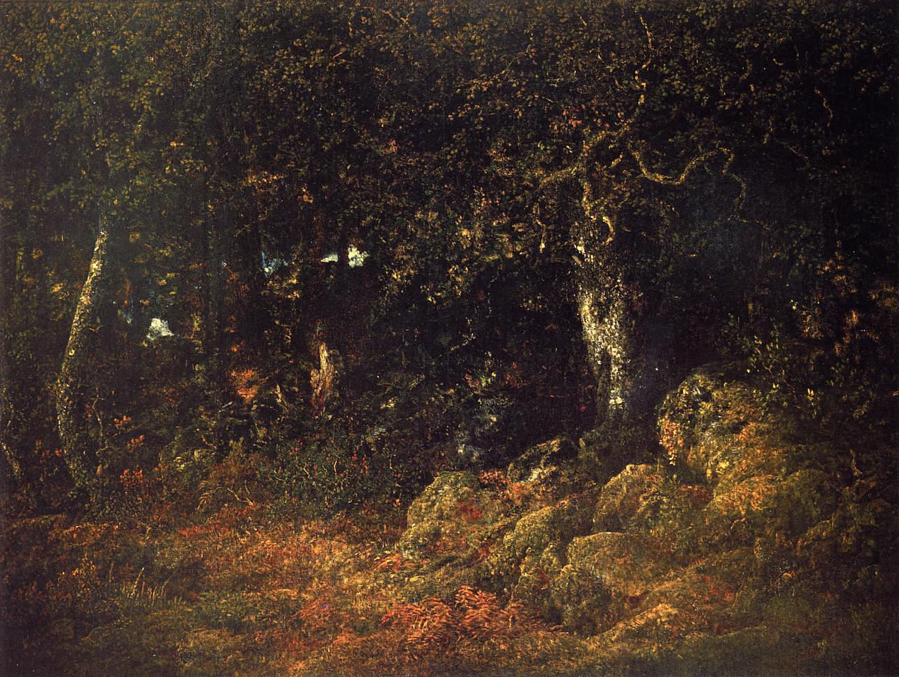 The Oak in the Rocks 1860 | Theodore Rousseau | Oil Painting